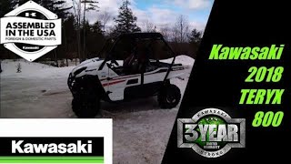 10. 2018 Kawasaki Teryx 800 Test Ride in the snow
