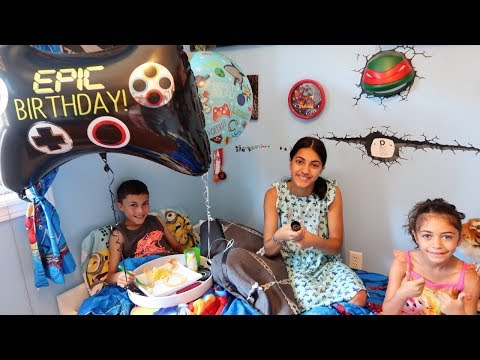 Happy Birthday Morning Routine - Breakfast in Bed with HZHtube Kids Fun