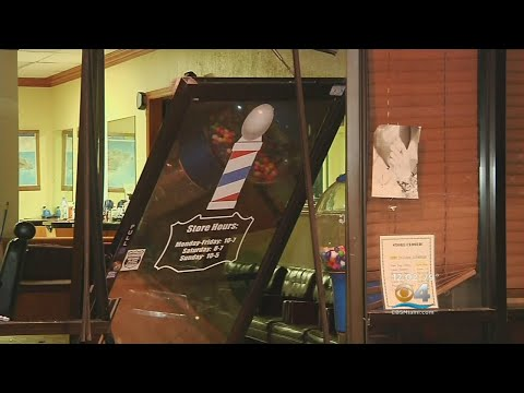 Vehicle Smashes Into Front Of Miramar Hair Salon
