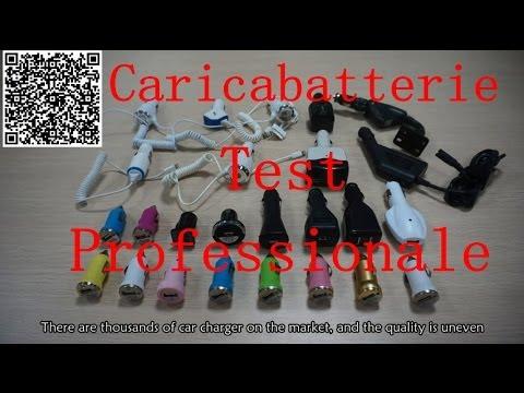 Caricabatteria per auto, test professionale