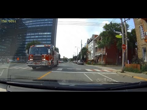 MONTREAL FIRE TRUCKS IN ACTION | RESPONDING | 8 CLIPS | MFD | SIM