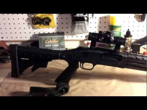 tatical - Mossberg 500 tactical, red dot set upp, itac defense, flashlight, heat shield review.