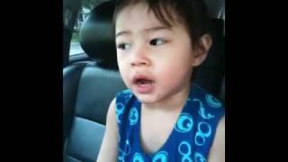 3 year old sing baik-baik sayang by wali band