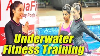Yami Gautam At 'Speedo Aquafit' Vertical Underwater Fitness Training Programme