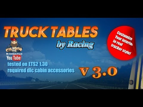 Truck Tables by Racing v3.0 1.28.x-1.30.x