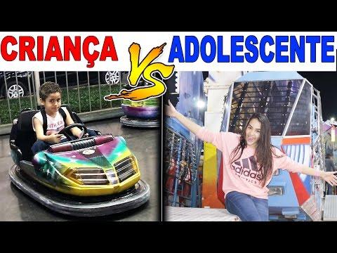 CRIANÇA VS ADOLESCENTE