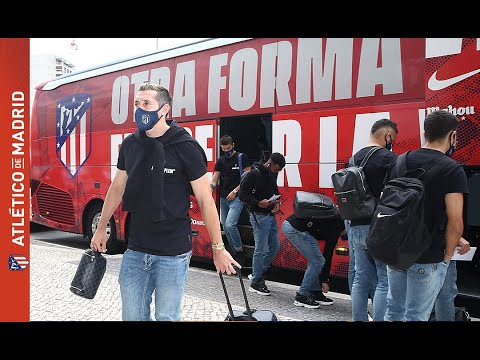 El Atlético de Madrid llegó a Lisboa con la ilusión de ser campeón de la Champions League