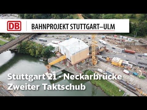 Zweiter Taktschub Neckarbrücke Bad Cannstatt
