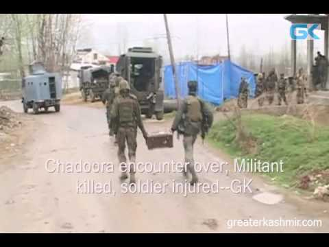 Chadoora encounter over; Militant killed, soldier injured