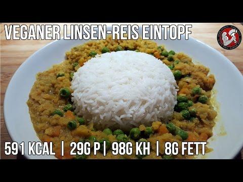 Veganer Linsen-Reis-Eintopf