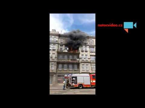 V Brně na Křenové hořelo