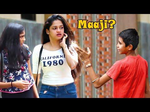 """Kid Calling Cute Girls """"Maaji"""" Prank   Part 3   Pranks In India"""