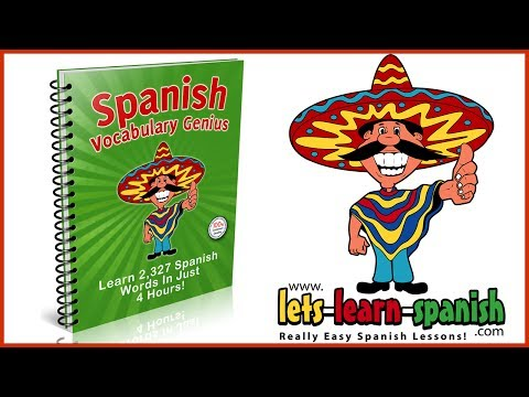 spanish - FULL VERSION: http://www.lets-learn-spanish.com/vocabulary-genius/ Add 2327 Spanish words to your vocabulary in just 4 hours with this program! Nothing is f...