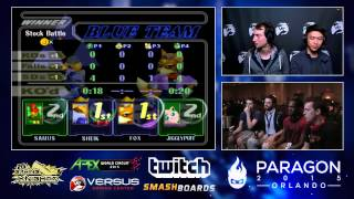 Paragon 2015 – Shroomed & MIOM | SFAT Vs. Plup & Liquid' Hungrybox SSBM Winners Finals – Melee