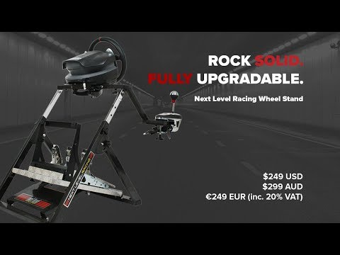 The Next Level Racing Wheel Stand, Rock Solid and Highly Adjustable.
