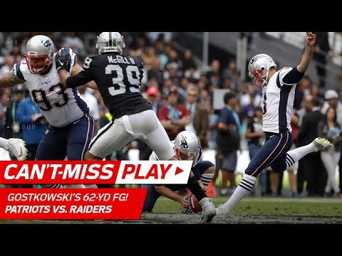 Video: Patriots Kicker Stephen Gostkowski Nails 62-Yd FG Before Halftime! | Can't-Miss Play | NFL Wk 11