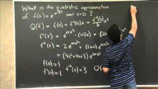 Quadratic Approximation | MIT 18.01SC Single Variable Calculus, Fall 2010