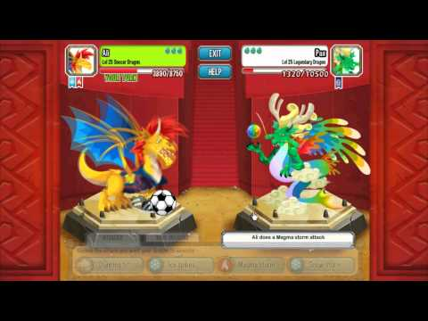 Dragon city - Dragão de Goku vs Dragão de Vegeta e Nappa - E