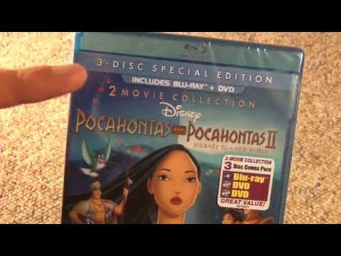 Pocahontas And Pocahontas II: Journey To A New World Blu-Ray/DVD Unboxing