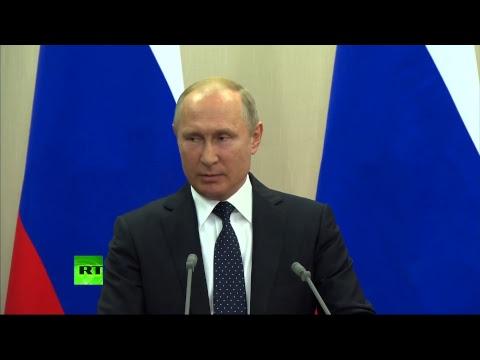 Путин и Меркель подводят итоги переговоров в Сочи - DomaVideo.Ru