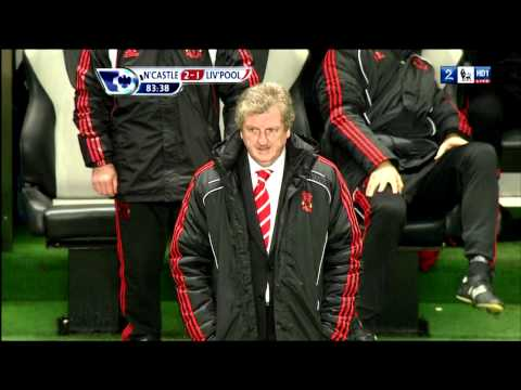 Roy Hodgson's Legendary Facerub - Newcastle - Liverpool (11.12.2010)