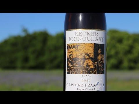 Texas Winery Visit! 2015 Becker Vineyards Iconoclast Gewürztraminer Wine Review