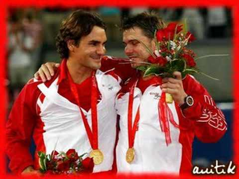 Federer y Wawrinka en la Final de las Olimpiadas de Beijing