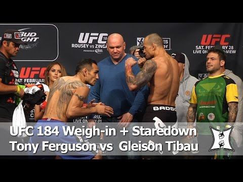 UFC 184: Tony Ferguson and Gleison Tibau Weigh-in and Staredown (HD / Complete / Unedited) (видео)