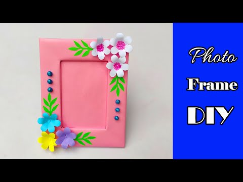 DIY Paper Photo Frame Making Easy Tutorial / How to make a Unique Photo Frame at home