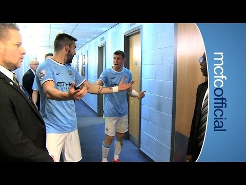 Sunderland - Behind the scenes inside the tunnel at the Etihad Stadium as City drew 2-2 with Sunderland in the Barclays Premier League. See Guy Poyet unable to refuse a s...