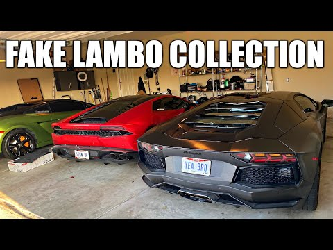SHOWING OFF FAKE LAMBORGHINI COLLECTION & AVENTADOR REPLICA...