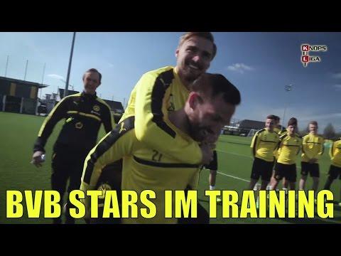 Kult Tuchel veräppelt echte BVB Stars beim Training | Teil 1 (видео)