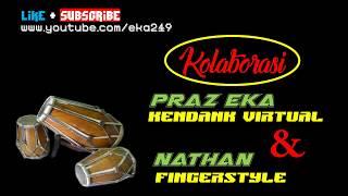 BOJO GALAK - PENDHOZA cover Nathan Fingerstyle - Praz Eka Kendang Virtual