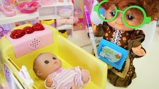 Dr. Baby doll hospital story ★ Yellow hospital hospital hospital & permed hair doctor is busy