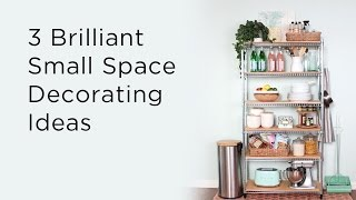 3 brilliant small space decorating ideas to make the most of what little room you have. Don't forget to SUBSCRIBE to Kin Community: http://bit.ly/BlogSubs ___CONNECT WITH KIN COMMUNITYSubscribe here: http://bit.ly/MKYoureInvitedFacebook: https://www.facebook.com/KinCommunityPinterest: https://www.pinterest.com/kincommunityTwitter: https://twitter.com/kincommunityInstagram: https://instagram.com/kincommunitySnapchat: http://bit.ly/AddKinYour source for new skills, new stuff, and new perspectives related to the most important place in the world, Home. Make your way home with Kin Community.