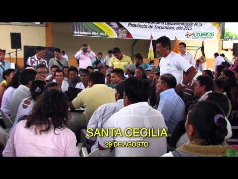 PREFECTURA DE SUCUMBÍOS SOCIALIZACIÓN PRESUPUESTO 2015 RECORRIDO