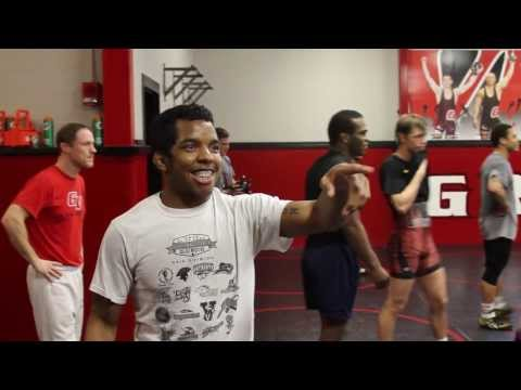 Isaiah Tatum returns to the Grand View Wrestling room