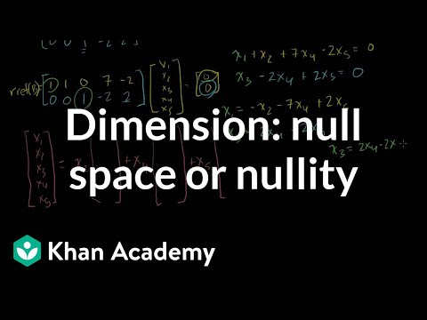Dimension of the null space or nullity video khan academy publicscrutiny Image collections