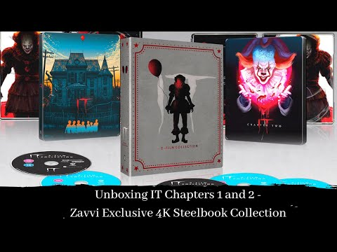 Blu-Ray Unboxing of IT 4K Steelbook Collection | Zavvi Exclusive