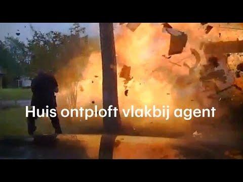 Huis ontploft precies als de politie aankomt - RTL NIEUWS