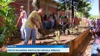 Trote solidário revitaliza escola pública na zona norte de Marília