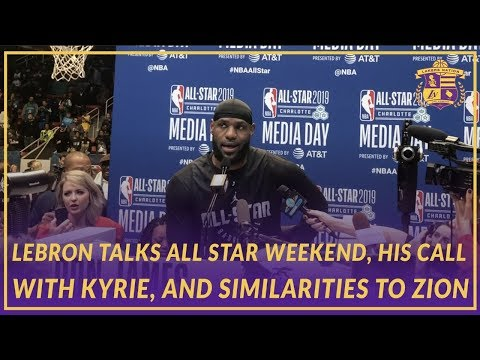 Video: 2019 NBA All-Star: LeBron on His Convo With Kyrie, Being More than an Athlete, & Zion Similarities