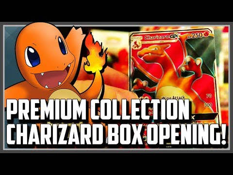 Opening A Pokemon Premium Collection Charizard Box!