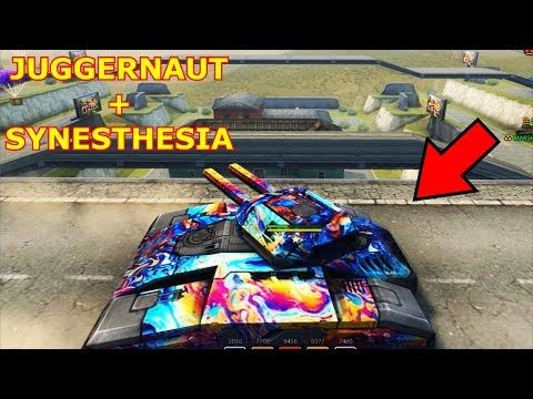Tanki Online JUGGERNAUT with Synesthesia paint