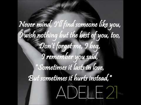 Adele - Someone like you WITH ON-SCREEN LYRICS 1