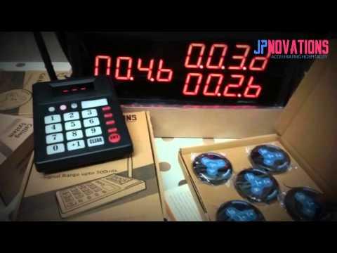 Jpnovations Wireless Waiter Calling LED Display / Kitchen Keypad