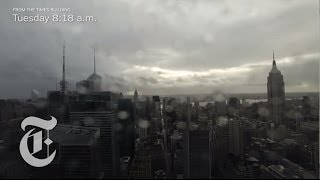 Hurricane Sandy Hits New York City - Timelapse Of The Storm From The New York Times Building