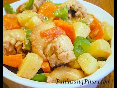 Lutong Pinoy - How to cook Pininyahang Manok (Pineapple Chicken) the Panlasang Pinoy way. Get the details of this recipe here: http://panlasangpinoy.com/2009/11/20/pineappl...