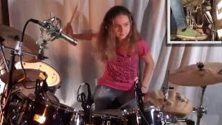 Video Jump (Van Halen), drum cover by a 14 year old girl MP3, 3GP, MP4, WEBM, AVI, FLV Januari 2018