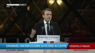 Video #Presidentielle2017 Discours de victoire d'Emmanuel Macron, nouveau président MP3, 3GP, MP4, WEBM, AVI, FLV Oktober 2017